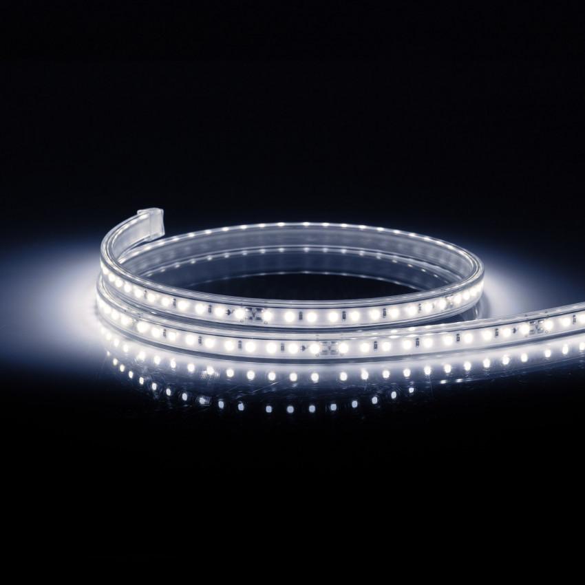 Ruban LED 220V AC 100 LED/m IP67 CRI 85 Blanc Froid Sur Mesure Coupe Tous les 10cm
