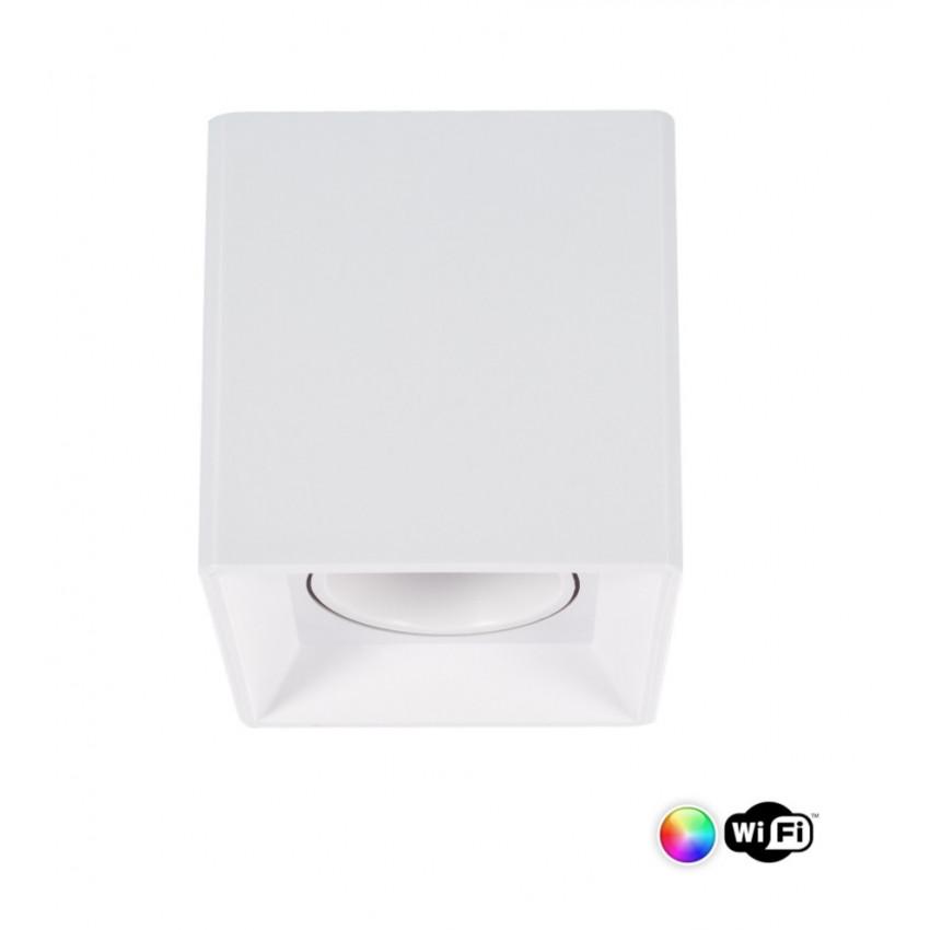 Plafonnier Jaspe PC Blanc Smart WiFi Dimmable RGBW 4W