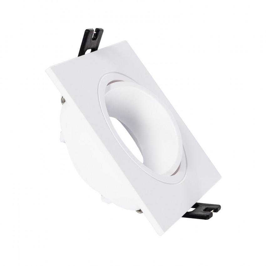 Support Spot Carré Orientable PC pour Ampoule LED GU10 / GU5.3