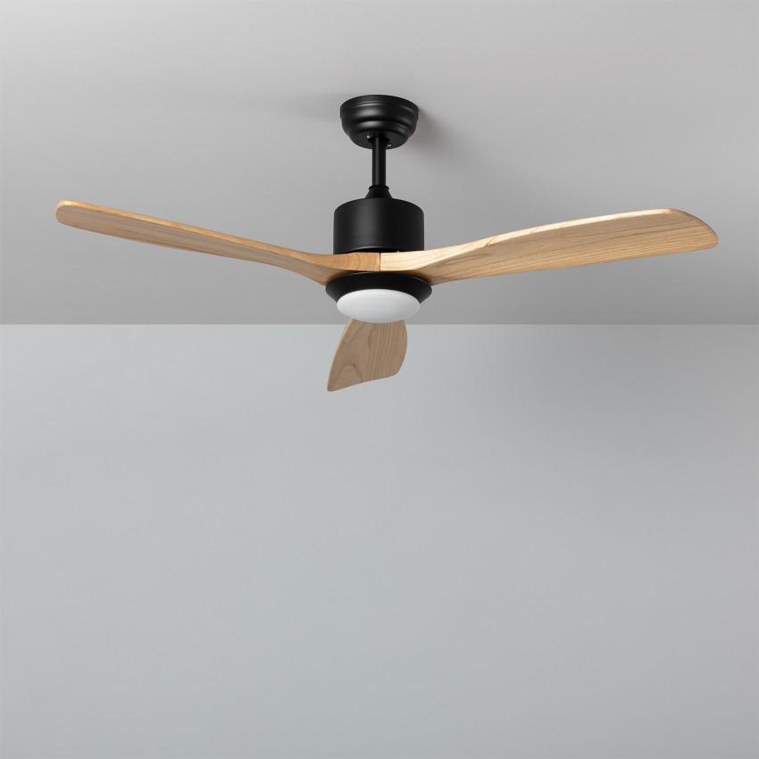 Ventilateur de Plafond LED Forest Noir 132cm Moteur AC