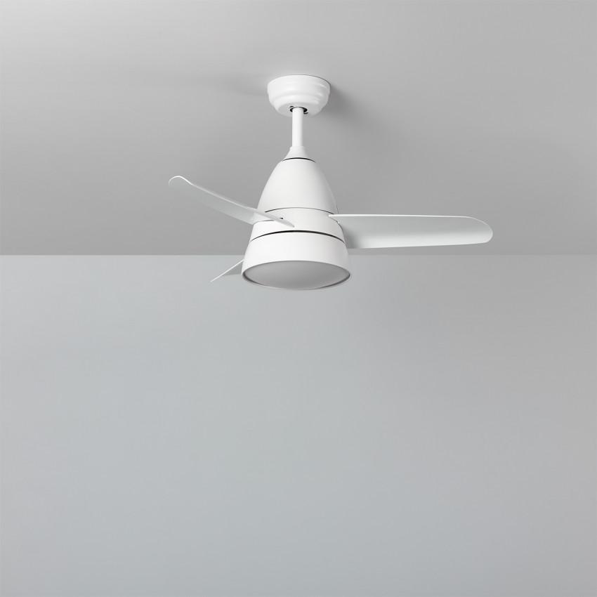 Ventilateur de Plafond LED Industriel Blanc 91cm Moteur AC