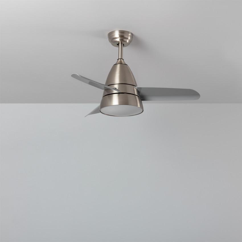 Ventilateur de Plafond LED Industriel Gris 91cm Moteur AC