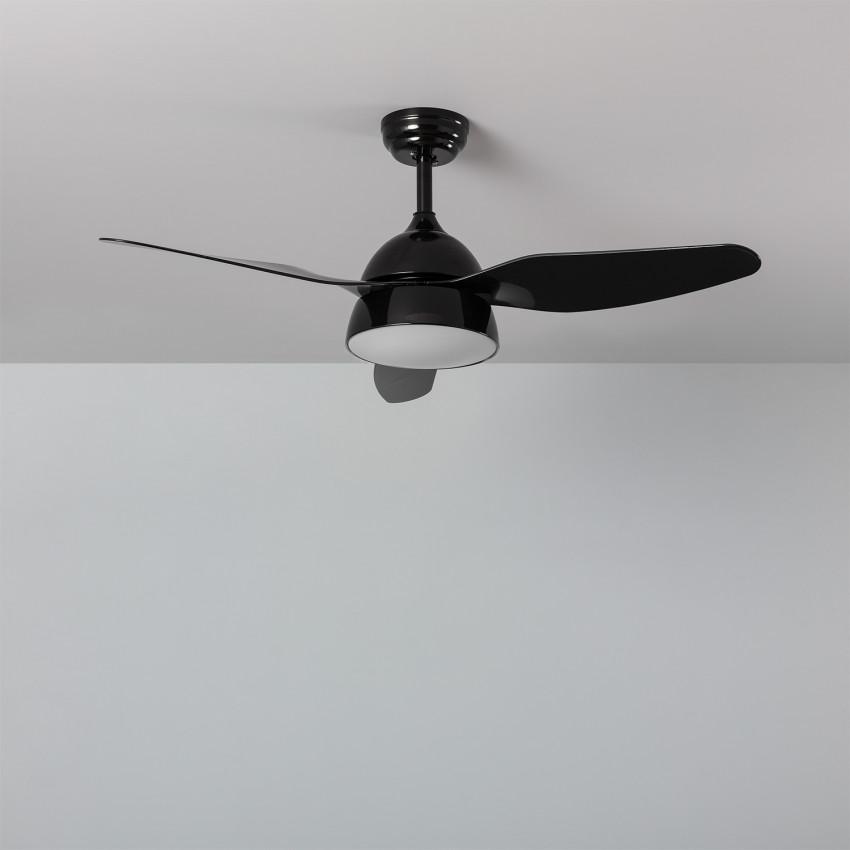 Ventilateur de Plafond LED New Industrial Noir 116cm Moteur AC