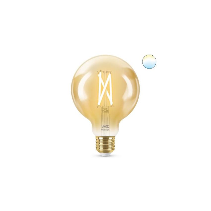 Ampoule LED Smart WiFi E27 G95 CCT Dimmable WIZ Filament Vintage 6.7W