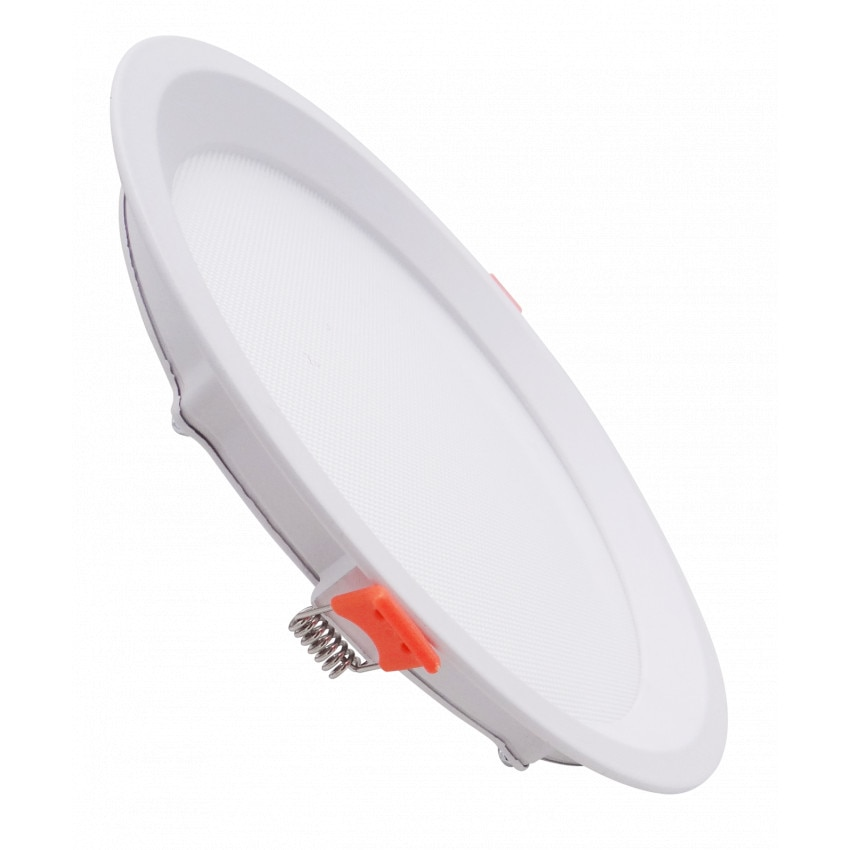 Dalle LED Ronde Slim 10W CCT Sélectionnable LIFUD (UGR17) Coupe Ø 110mm