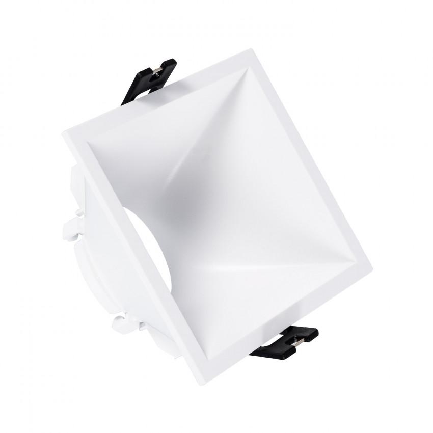 Collerette Downlight Carrée 45º Faible UGR PC pour Ampoule LED GU10 / GU5.3