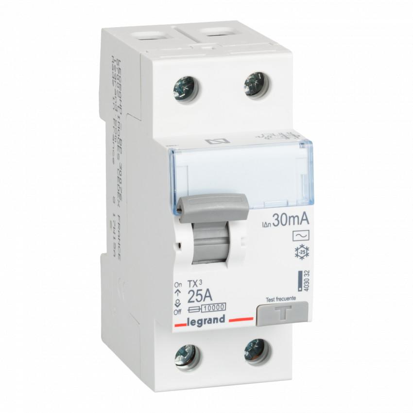 Interrupteur Différentiel TX3 Tertiaire 2P-30mA Type AC 25-40A LEGRAND 403033