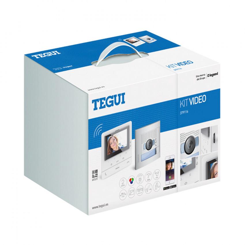 Kit Visiophone 1 Logement 2 fils avec Panneau SFERA NEW et Moniteur Mains Libres CLASSE 100 X16E Connecté TEGUI 379116