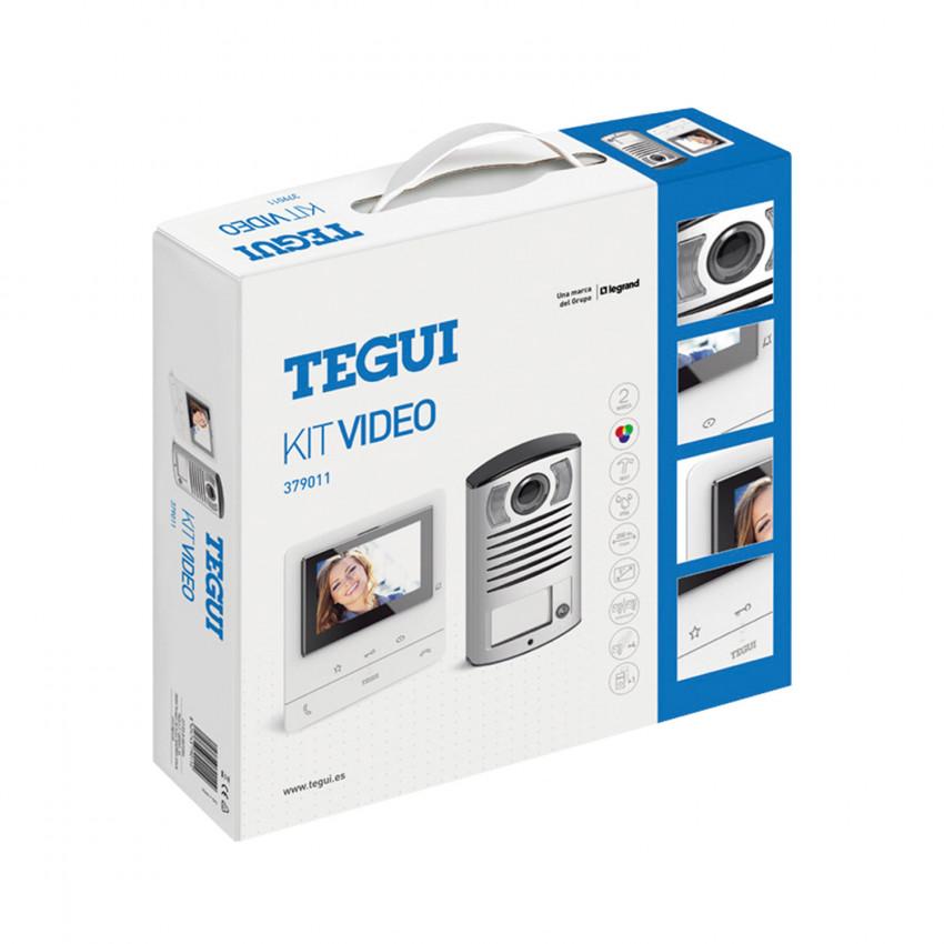 Kit Visiophone 1 Logement 2 fils avec Panneau LINEA 2000 et Moniteur Mains Libres CLASSE 100 Basic TEGUI 379011