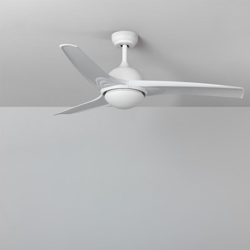 Ventilateur de Plafond LED Leo Blanc 132cm Moteur DC
