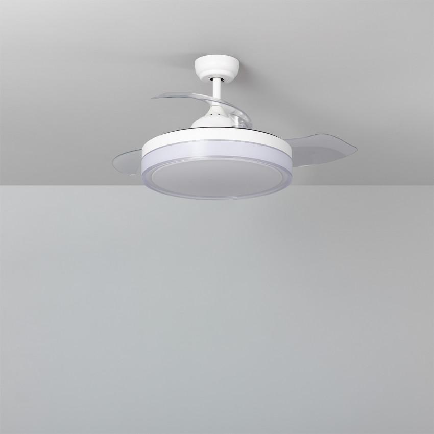 Ventilateur de Plafond LED Caicos Blanc 106cm Moteur DC