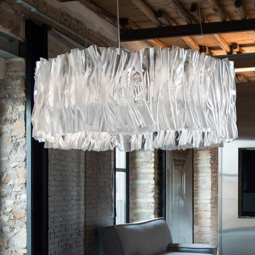 Lampe Suspendue LED Accordéon Silver SLAMP