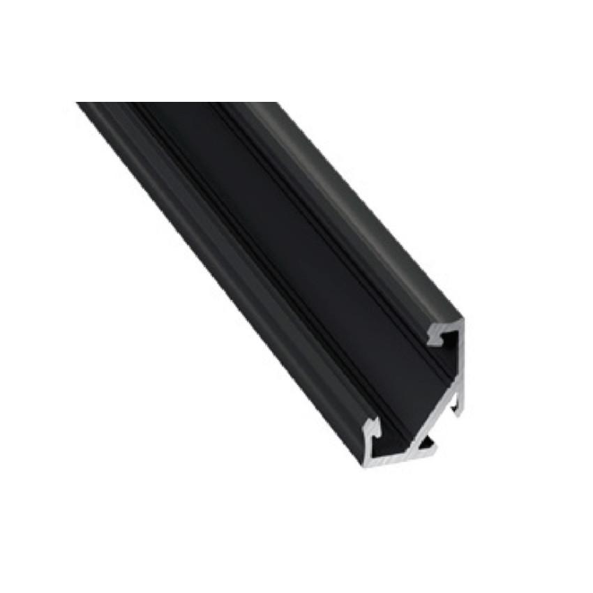 Profilé Aluminium Angle 2m Noir pour Rubans LED