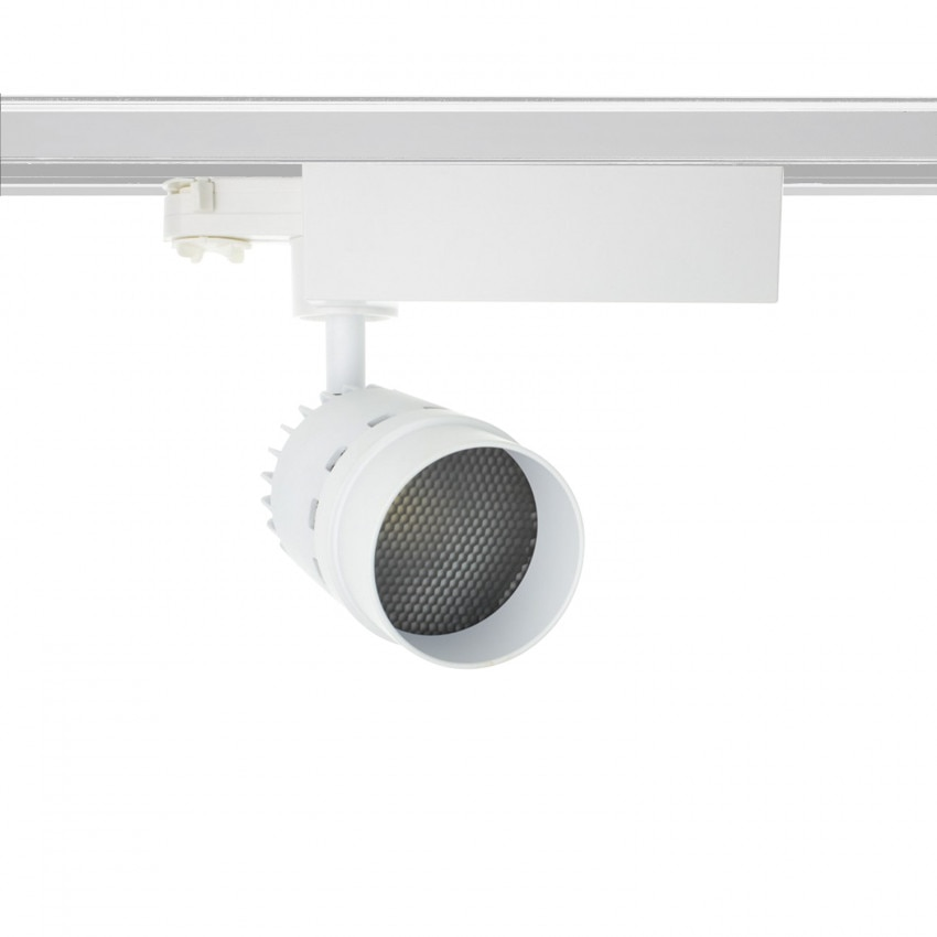 Spot LED Cree Cannon 20W Blanc pour Rail Triphasé (UGR 19) (3 Allumages)