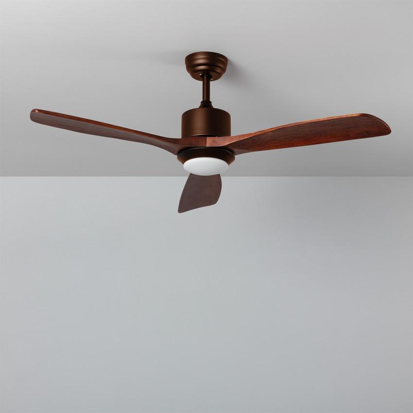 Ventilateur de Plafond LED Forest Marron 132cm Moteur DC