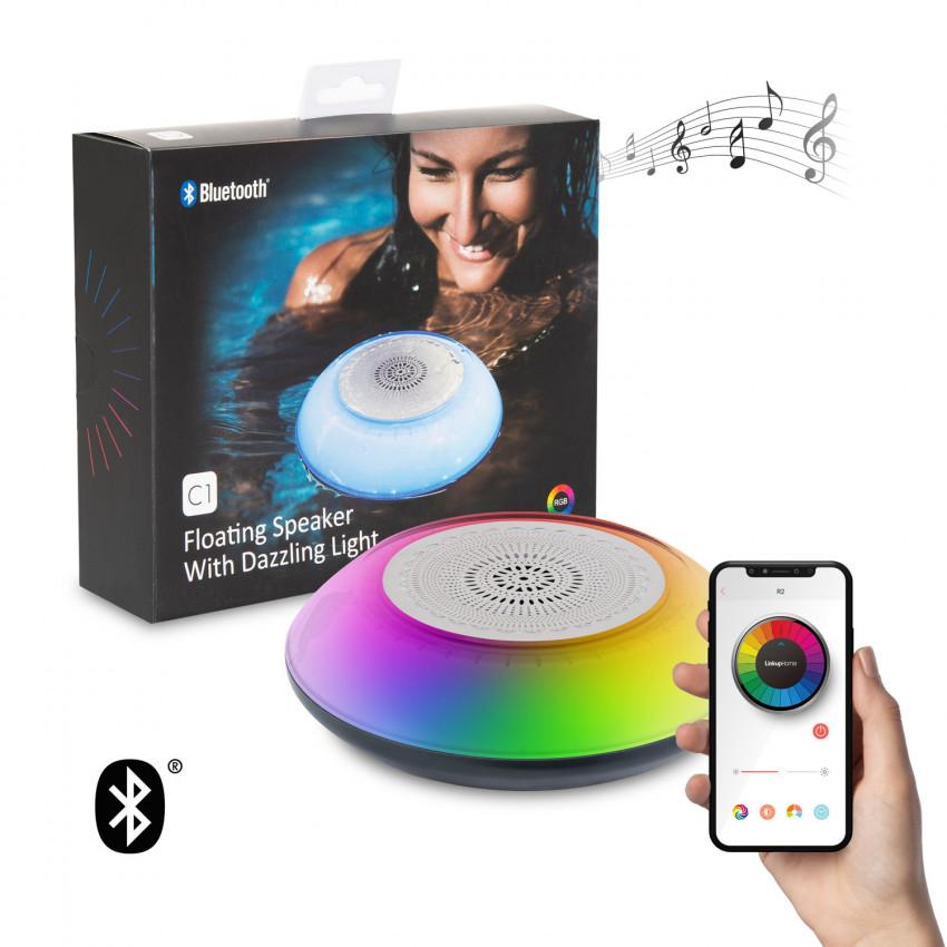 Haut-Parleur Bluetooth Flottant pour Piscine avec LED RGBW IP67 Aquatique pour Smartphone