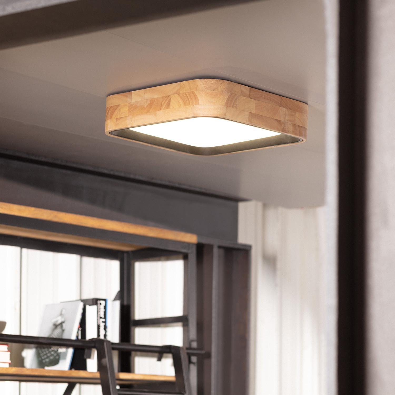 Plafón LED Cuadrado Dari 30W CCT Seleccionable