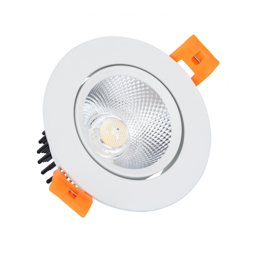 Spot Downlight LED COB  Dimmable Orientable Rond (UGR19) Blanc 7W Coupe Ø70mm