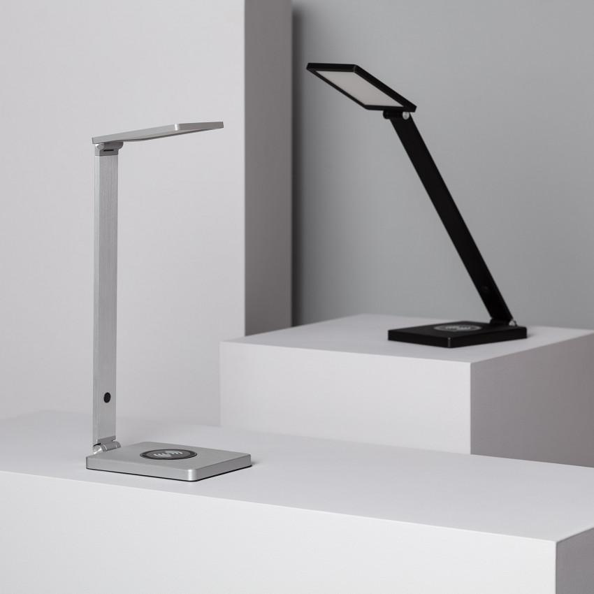 Lampe de Bureau LED Liberty 8W Dimmable avec Chargeur sans Fil Qi Smartphone