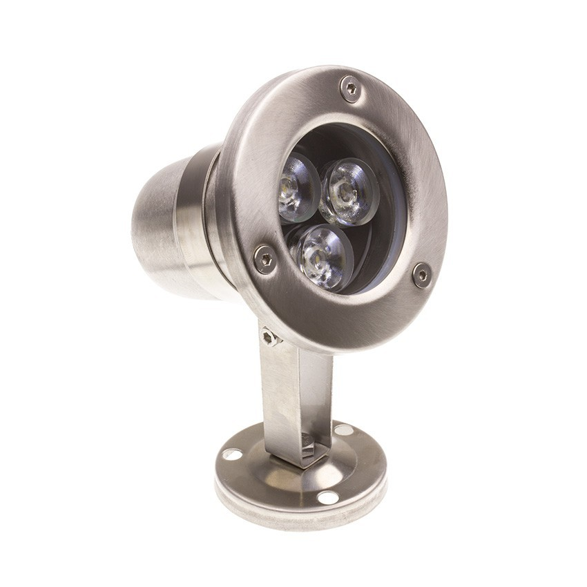 Spot LED Fixation au Sol Inox 12V 3W