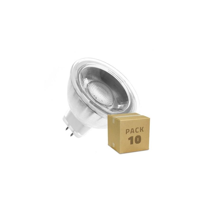 Pack 10 ampoules led gu5 3 mr16 cob cristal 12v 45 5w - Ampoule gu5 3 led ...