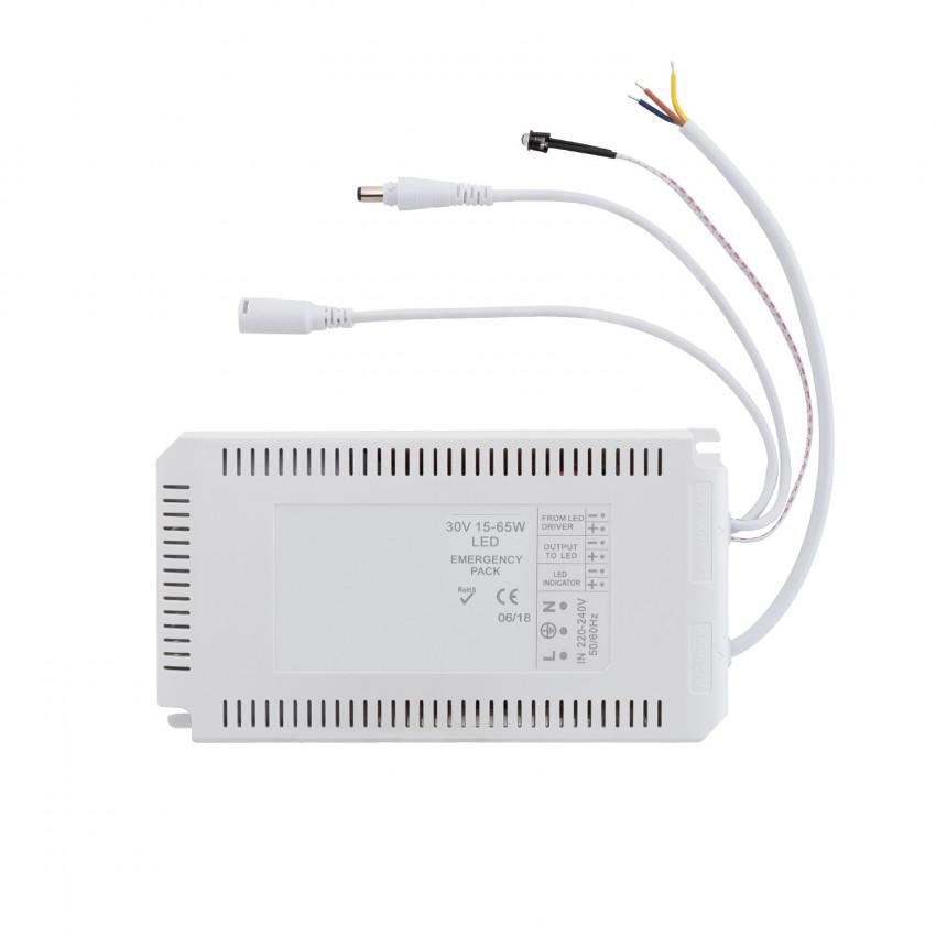 Driver avec Batterie pour Panneaux LED d'urgence 30V DC 15-65W