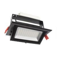 Projecteur LED Samsung 120lm/W Orientable Rectangulaire 60W Noir