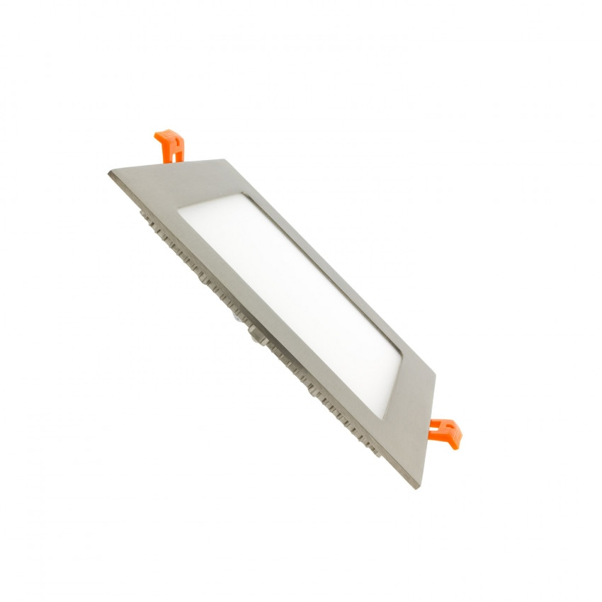 SuperSlim LED Quadrata 12W Argento Foro 152x152 mm