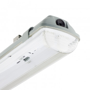 Plafoniera Stagna per due Tubi a LED 600mm PC/PC Connessione Unilaterale