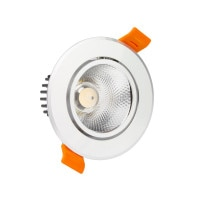 Faretto Downlight LED COB Orientabile Rotondo 12W Argento