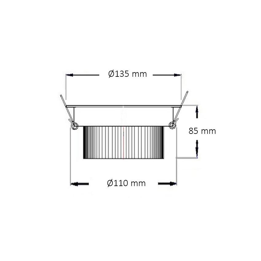 Foco LED Downlight Circular COB 15W Blanco