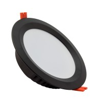 Downlight LED SAMSUNG 120lm/W Aero 36W UGR19 Nero LIFUD