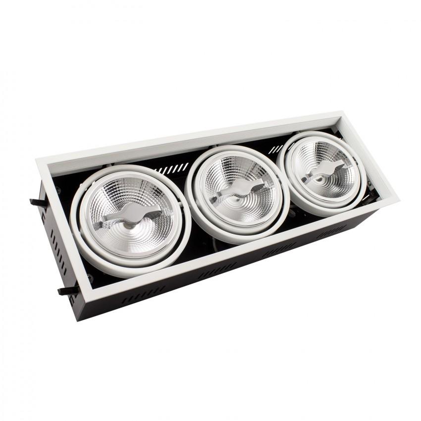 Faretto LED CREE-COB Orientabile AR111 45W Regolabile Foro 455x155 mm