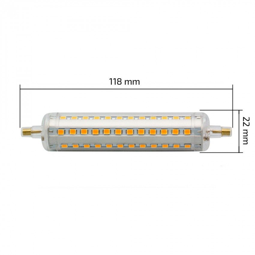 lampadina led r7s regolabile slim 118mm 10w ledkia italia On lampada a led r7s 118mm