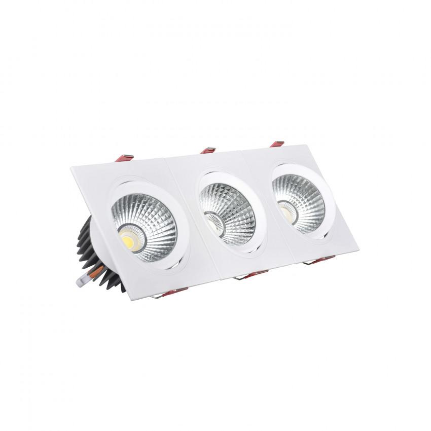 Faretto Downlight LED Rettangolare Triplo New Madison 15W Foro 255x75 mm
