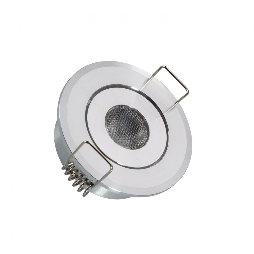 Faretto Downlight LED COB Orientabile Rotondo 1W Foro Ø 45 mm