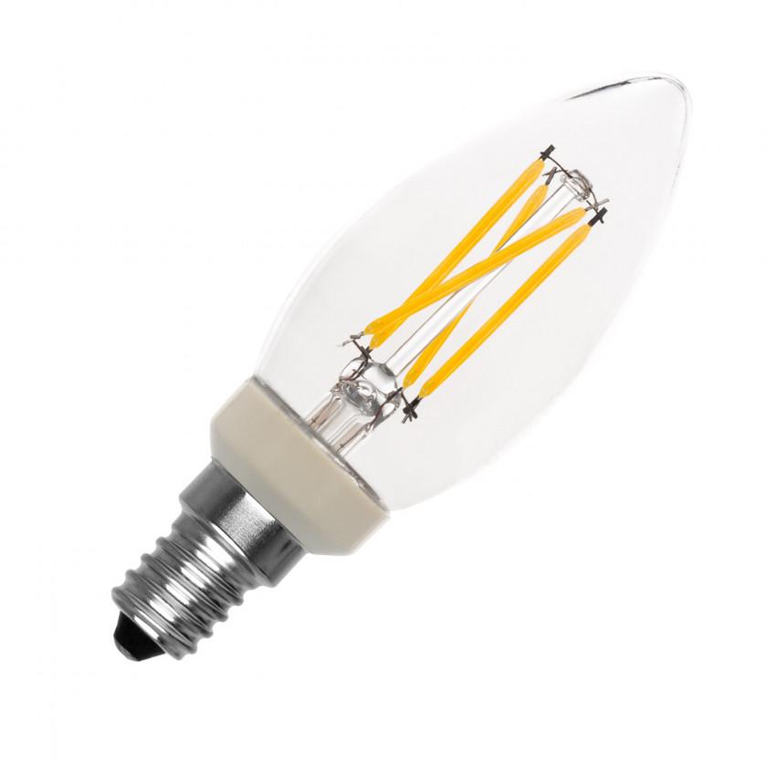 Lampadina LED E14 C35 PHILIPS Regolabile Filamento Candle 3W