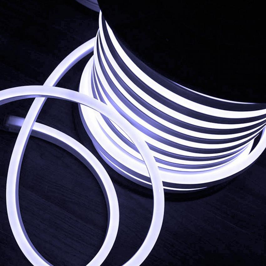 Bobina Striscia LED Neon Flessibile Regolabile 120LED/m 50 Metri Bianco Freddo IP65