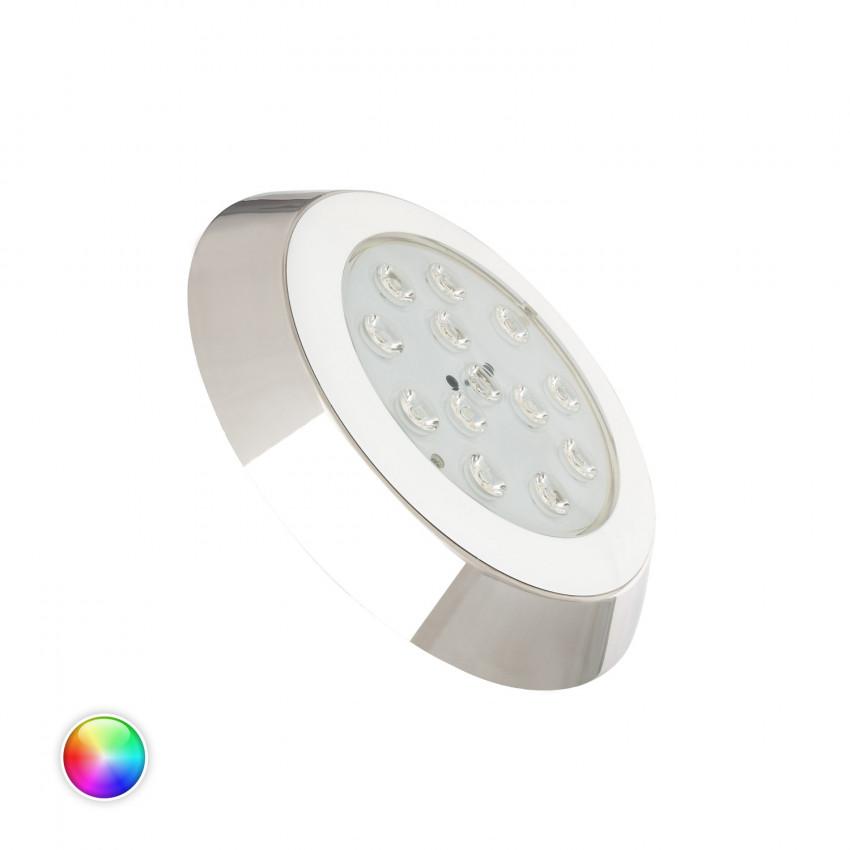 Faretto Piscina LED da Superficie Inox RGBW 12W