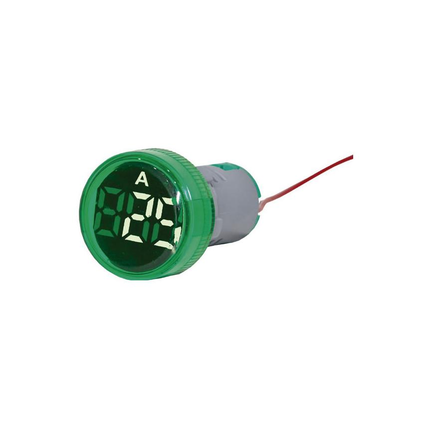 Luce Spia con Ampermetro 0-100A Ø22 mm
