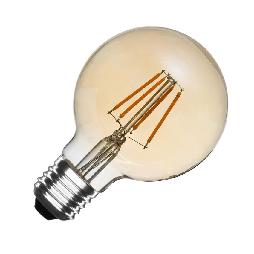 Lampadina LED E27 Regolabile Filamento Gold Globo G80 5.5W