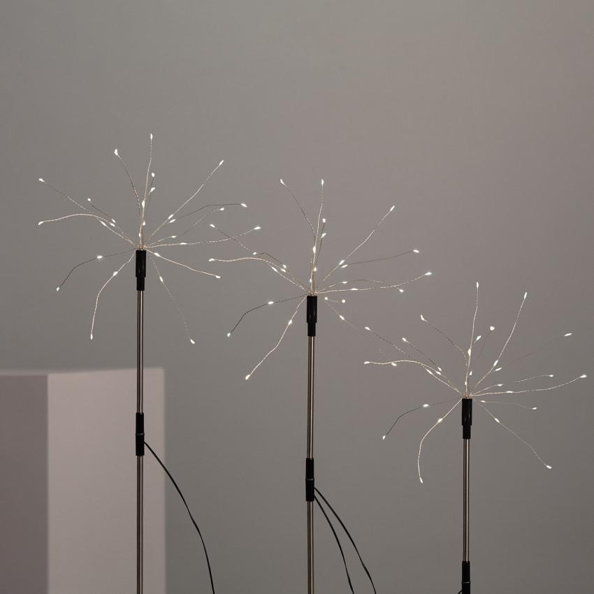 Set di 3 Spiedini LED Dente di Leone con Caricatore Solare