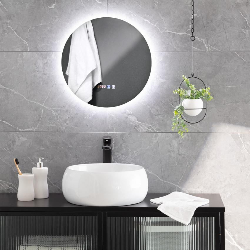 Specchio LED Antiappannamento Touch Volpe Ø45 cm