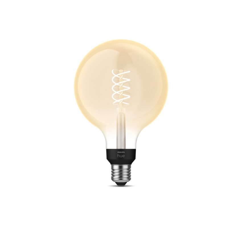 Bombilla LED E27 Filamento White G125 7W PHILIPS Hue