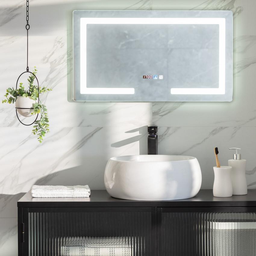 Specchio LED Antiappannamento Touch Seona 40x70 cm