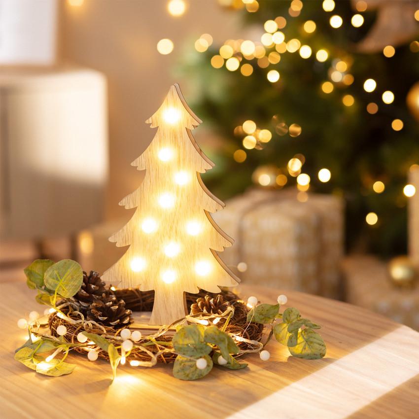 Albero di Natale LED Wood con Batteria