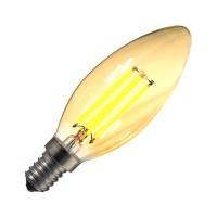 Żarówka LED E14 Regulowana Filament Classic Złota C35 3.5W