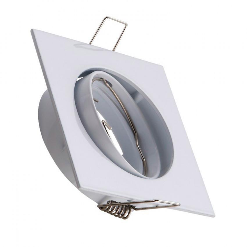 Square Tilting Halo Downlight for a GU10/GU5.3 LED Bulb