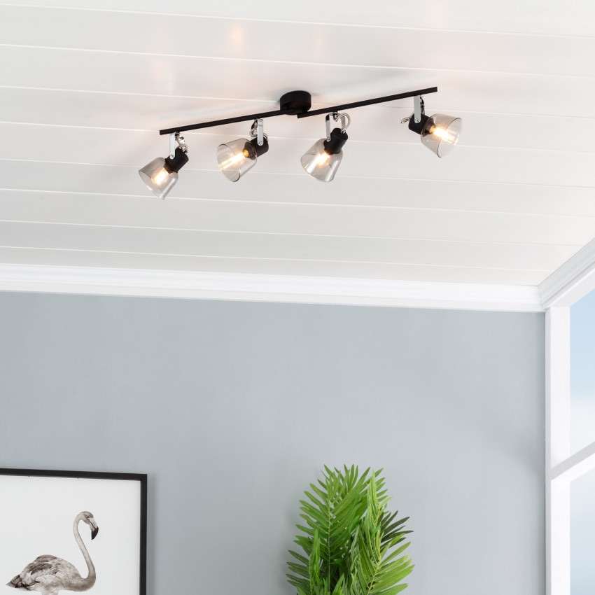 Adjustable Tivo Ceiling Light with 4x Spotlights