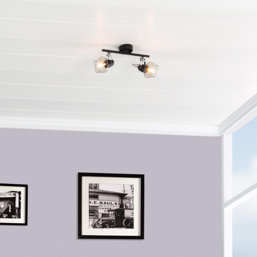 Adjustable Sipi Ceiling Light with 2x Spotlights